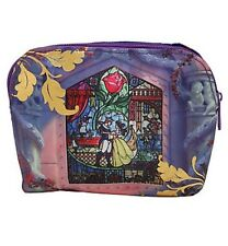 Disney Beauty & The Beast Stained Glass Makeup Cosmetic Bag New With Tags!