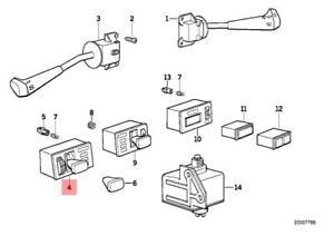 image is loading genuine-bmw-e28-sedan-light-switch-oem-61311375515