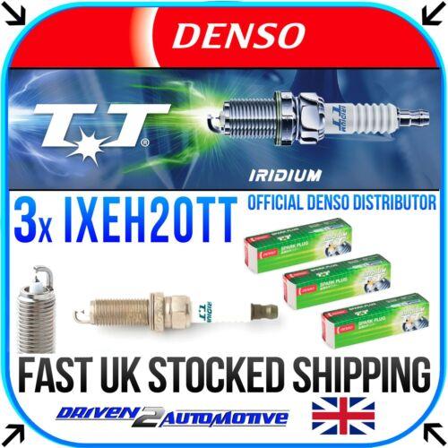 3x DENSO IXEH20TT Iridium TT Bougies pour NISSAN NOTE 1.2 06.13