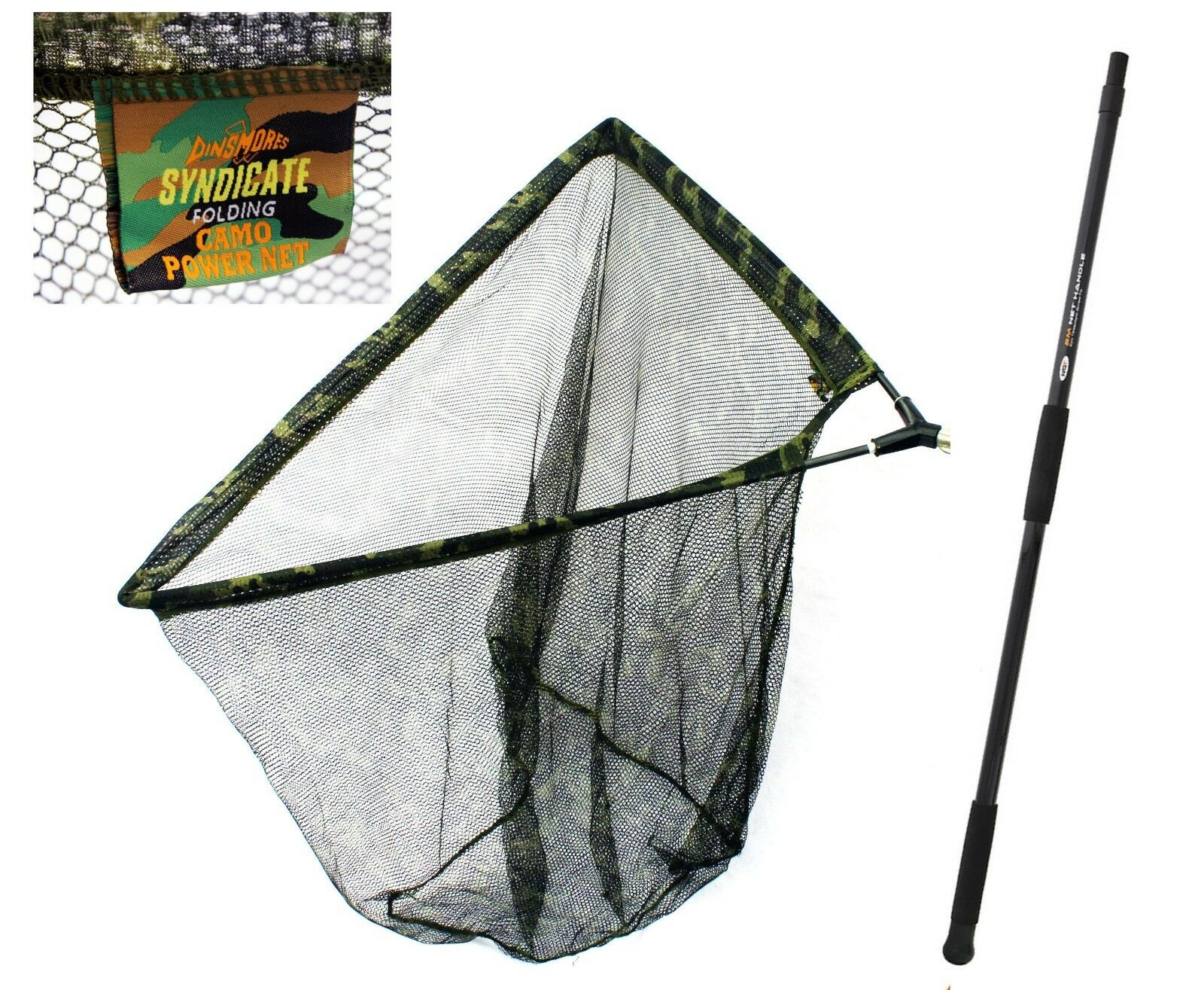 Dinsmores Camo specimen   Carp net with 6ft Handle Available in 3 sizes