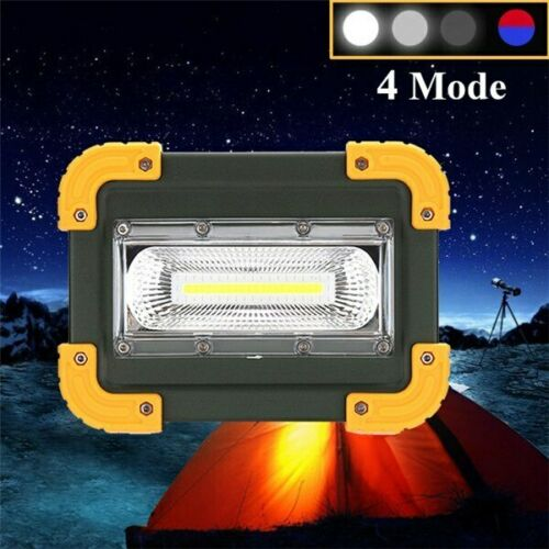Waterproof Portable COB LED Work Light USB Rechargeable Garage Camping Spot Lamp