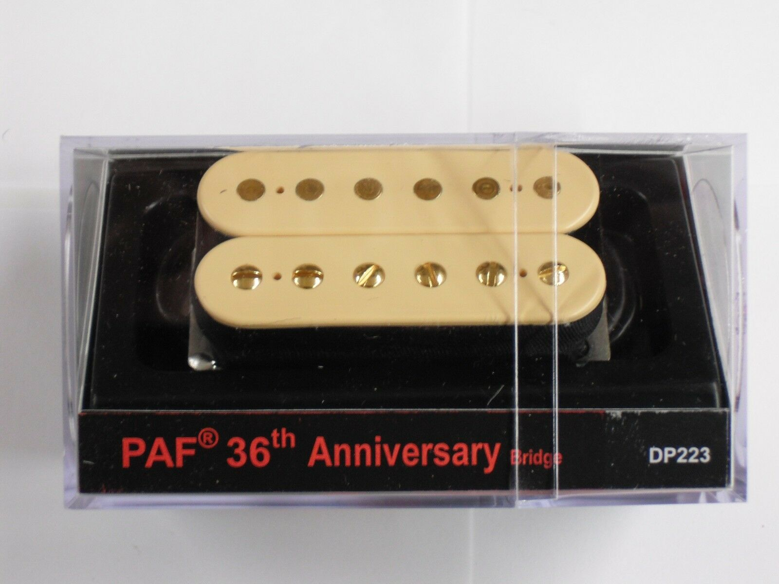 DiMarzio Regular Spaced PAF 36th ANNIVERSARY Bridge Creme W Gold Poles DP 223