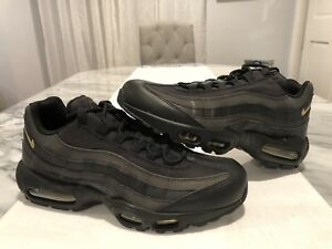 the best attitude 1552e 6ecfb Image is loading Nike-Air-Max-95-Premium-Black-Metallic-Gold-