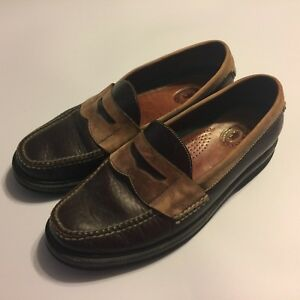 HS-Trask-Brown-Leather-Slip-On-Penny-Loafer-Driving-Shoes-Mens-9-5M-Brazil