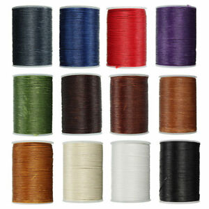 Waxed Thread 0.8mm Flat Polyester Cord Sewing Stitching Leather Craft H4O7