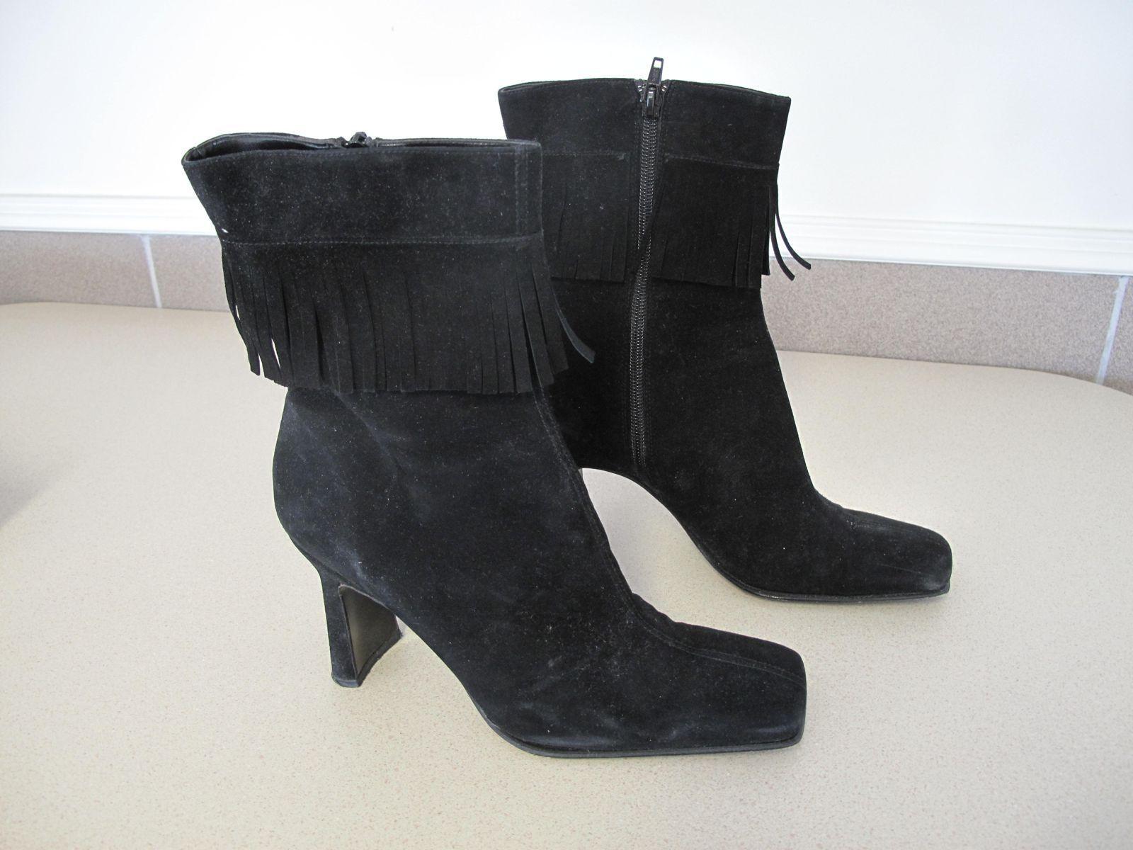 benvenuto per ordinare Donna  Suede Suede Suede nero stivali fringe SACHA London Spain style ZEN sz 9  disegni esclusivi