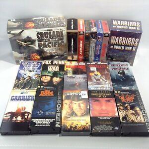 VHS MILITARY WAR MOVIES Saving Private Ryan Das Boot Warbirds Patton MacArthur