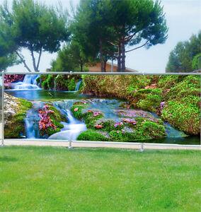 Brise vue déco imprimé pour jardin, balcon ou terrasse Rivière 9103 ...