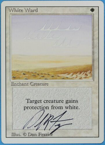 ABUGames White Ward Revised NM White Uncommon Artist Signed MTG CARD ID# s2407
