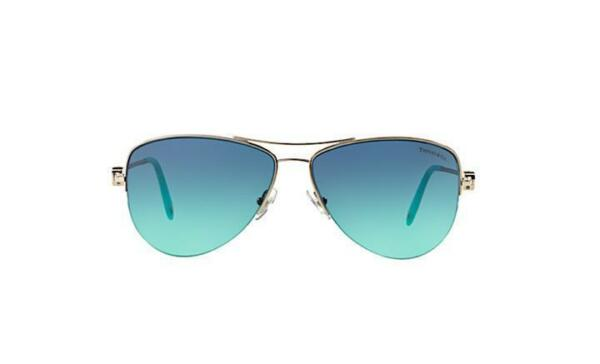 0ab6faa0a4f Authentic Tiffany   Co. Silver Aviator Sunglasses TF 3021 - 60029s 57mm for  sale online