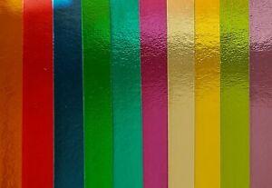 Spiegelkarton 10 Farben Paper-pack Glanz-Papier Cardboard Karton A4 Lesuh 690033