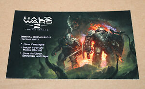Details about Halo Wars 2 Awakening The Nightmare Promo Ad Card from  Gamescom 2017