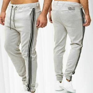 Pantalon-de-jogging-hommes-survetement-sport-a-rayures-Activewear-Bottoms-piste