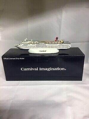 "Carnival Cruise Line Imagination Cruise Ship Model 10.5"" Resin Hand Painted JJ5"