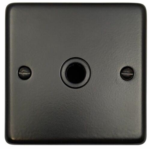 G/&h norme CFB79B plaque Matt Noir 1 Gang Flex Outlet Plaque