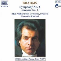 BRAHMS -  SYMPHONY NO. 2 /  SERENADE NO. 2 – NAXOS CD (1990) BRT PO / RAHBARI