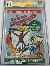 Marvel True Believer Amazing Spiderman #1 Signed Stan Lee CGC 9.8 SS ASM Reprint