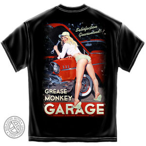Greg-Hildebrandt-Camiseta-Hot-Rod-coche-Chevy-Pin-Up-Girl-USA-Camiseta-S-M-L-XL-XXL-XXXL