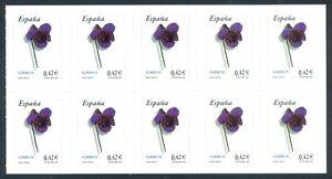 ESPANA-2007-EDIFIL-4307H-VIOLETA-HOJITA-DE-10-SELLOS-PROCEDENTE-DEL-CARNE