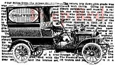 Deep Red Rubber Stamp Very Old Vintage Delivery Truck Car