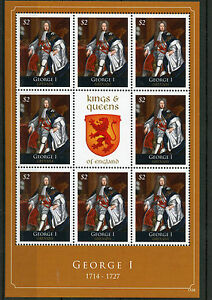 Grenada 2011 MNH Kings & Queens of England George I 8v M/S Royalty Stamps
