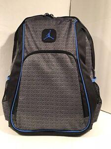 NIKE AIR JORDAN Jumpman Backpack School Gym Bag Grey   Black NWT  50 ... dcd6e40d33724