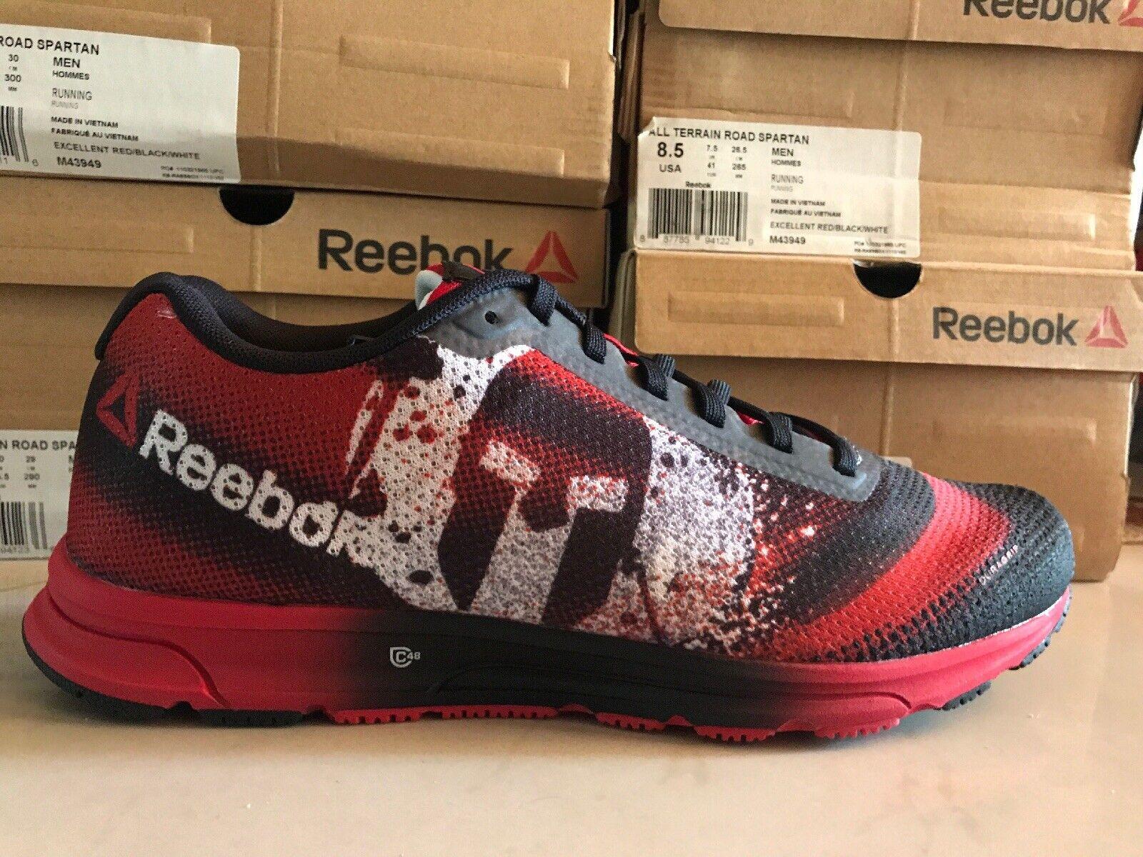 Reebok All Terrain Spartan Race model running shoes men size 10 Red Black