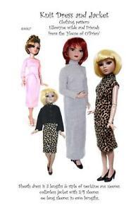 EW027-Knit-Dress-amp-Jacket-pattern-for-16-034-Ellowyn-Wilde-Prudance-amp-Amber