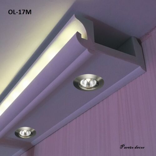 Angle Intérieur Modèle OL-17 Spots Lumière Moulure en Stuc de Eclairage Indirect