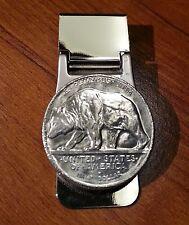 1925 California State Emblem Walking Grizzly Bear Half Dollar Coin Money Clip!