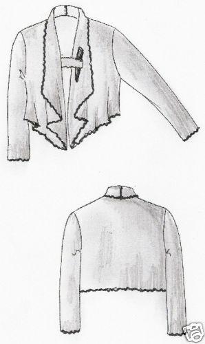 Patrones de corte Lagenlook chaqueta dubai talla M 44-46