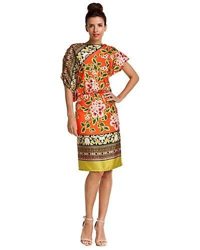 ny NWT kvinnor Silk Josie Natori Dress orange Flågers lila XS  495 Designer