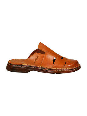 Natural Buffalo Leather Comfortable Sandals Slip On Shoes For Men Uk Size 7-11