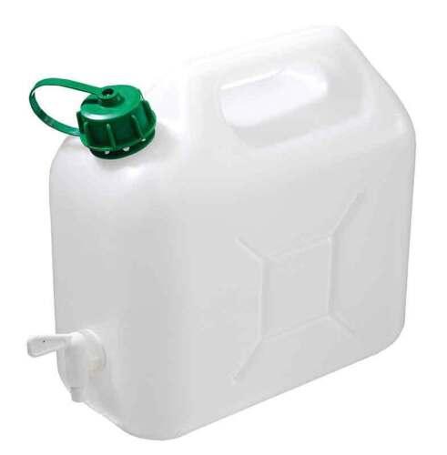 Wasserkanister 5 Liter mit Auslaufhahn Weiß Kanister Camping Wasser Trinkwasser