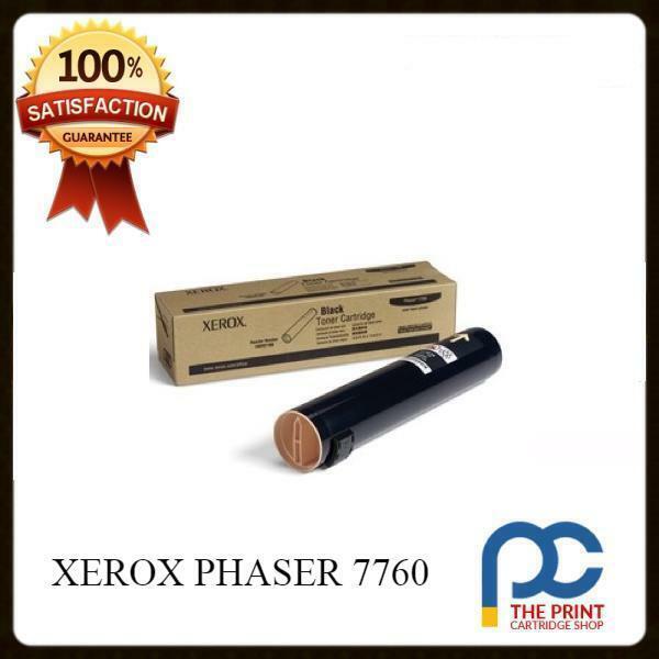 NEW & ORIGINAL XEROX PHASER 7760 BLACK TONER CARTRIDGE 106R01163 32K YIELD