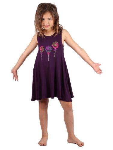 Lori /& Jane Big Girls Purple Lollipop Studs Sleeveless Tunic Dress 6-14