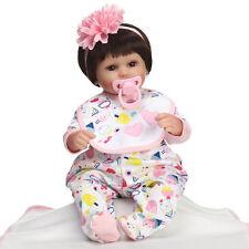 17'' Silicone Baby Handmade Realistic Reborn Baby Dolls Girl Newborn Cute Doll