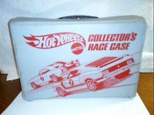 VINTAGE-1975-HOT-WHEELS-24-Vinyl-Car-Collector-s-Case-Mattel-9182-With-24-CARS
