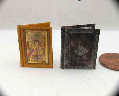 2 MAGIC SPELL Books Miniature Dollhouse 1:12 Scale Illustrated Books Wizard