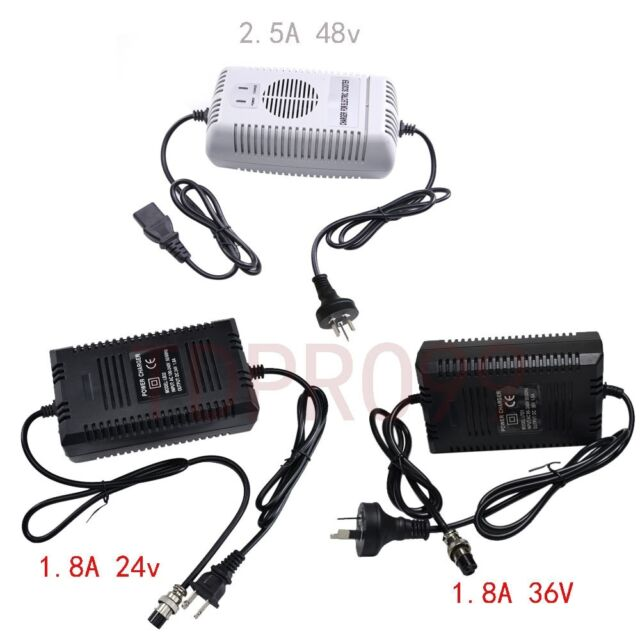 36V 1.5A 3 Male Connector Lead Acid Electric Battery Charger for Scooter Bike