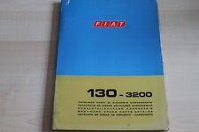 SV0361) Fiat 130 3200 - Karosserie Ersatzteilkatalog 05/1971