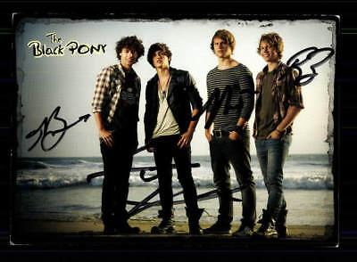 Klug The Black Pony Autogrammkarte Original Signiert ## Bc 111967 Knitterfestigkeit Musik