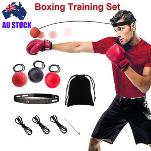 Boxing Head Band Speedball Fight Ball Training Reflex Speed Punch Exercise AU