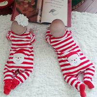 Newborn Infant Baby Boys Girls Bodysuit Romper Jumpsuit Outfit Sleepsuit Clothes