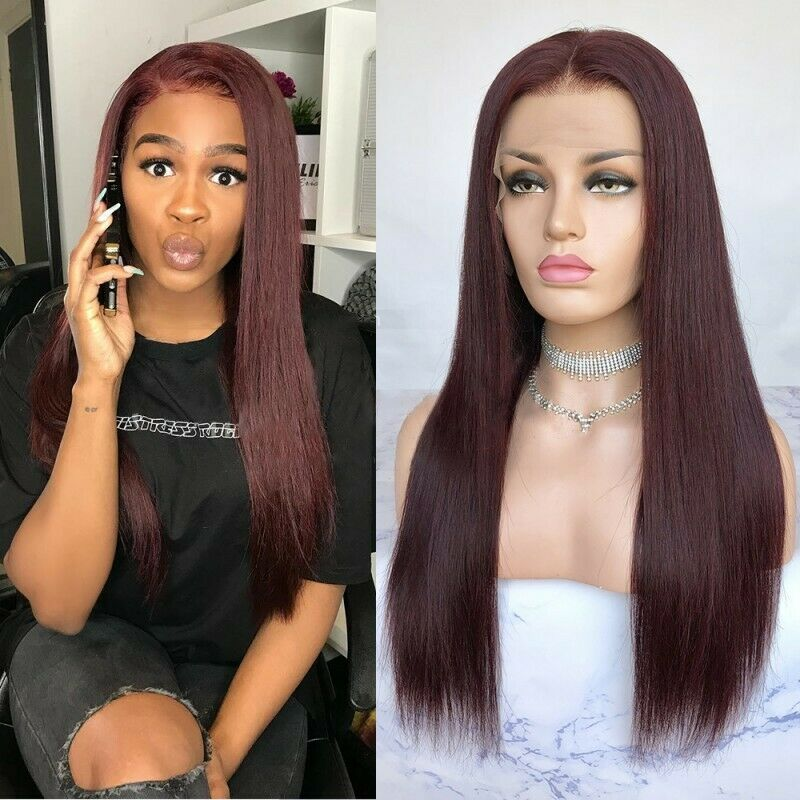 N140 180% Density Straight Middle Parting Brazilian Hair Wigs