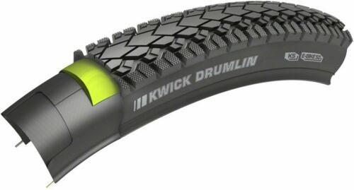 Kenda Kwick Drumlin Bicycle Tire//700x45 Clincher Steel Black//Reflective 60tpi