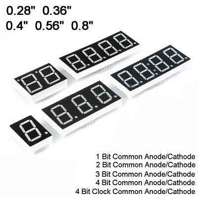 0.28//0.36//0.4//0.56 Led Display 7 Segment Digit 1-4 Bit Common Cathode//Anode
