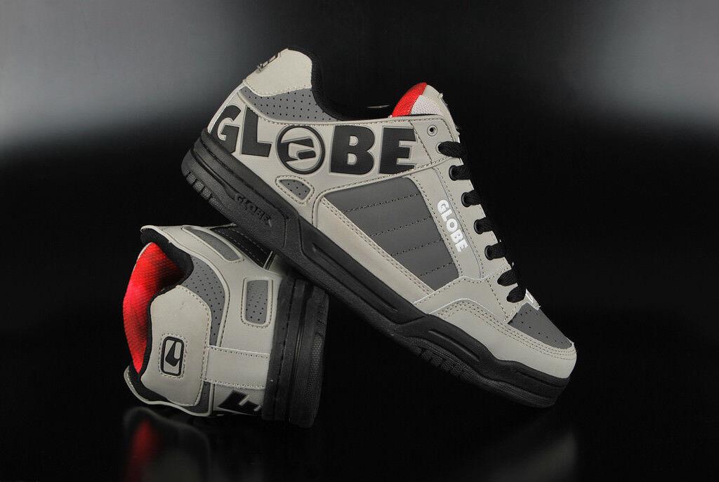 Herrenschuhe Frau skate GLOBE Schuhe Neigung grau schwarz rot black RED