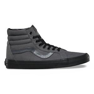 ff8d5bed318 Vans Sk8-Hi Reissue Sneakers Pewter Black VN0A2XSB High Top Classic ...