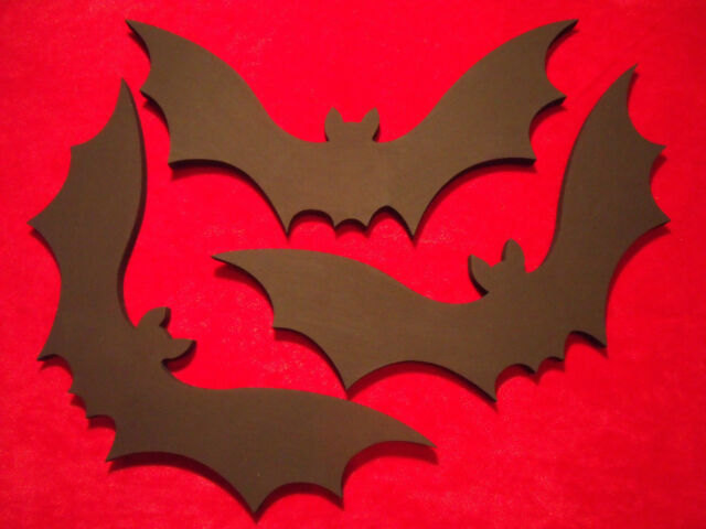 Wooden Bat Wall Decor Hanging Vampire Gothic Halloween